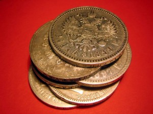 Серебряный рубль — денежная единица Российской империи, имевшая хождение с 1704 по 1897 гг