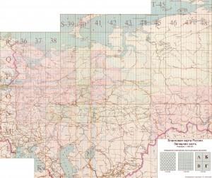 Бланковка карты России западная и восточная часть