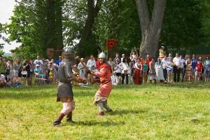 битва воинов раннего средневековья