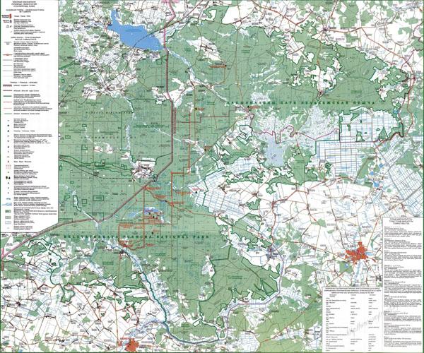 """Карта """"Национальный парк Беловежская пуща"""""""