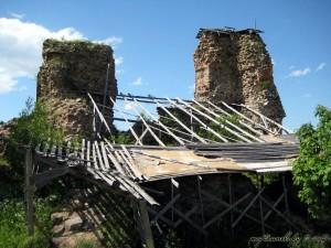 Астаткі Княжай вежы ў замку