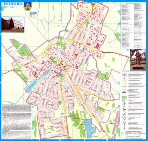 Карта города Дятлово