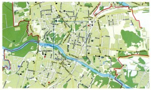 Map of the city of Grodno
