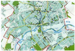 Map of the city of Mogilev