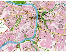 Map of the city of Vitebsk