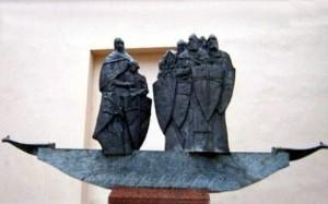 Полоцк. Памятник кривичам - основателям города