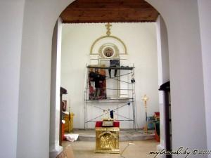 Реконструкция православной часовни около Воложина