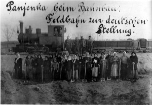 Строители УЖД в Юратишках, IX.1917