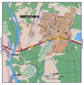 Карта города Березовка