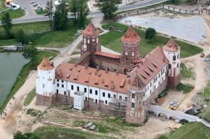 Мирский замок с высоты полета