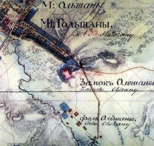Старая карта Гольшан 19 века