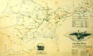 Карта передвижения войск во время войны 1812 года