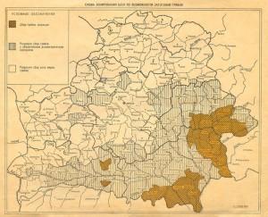КАРТА - Схема зонирования БССР по возможности заготовки грибов