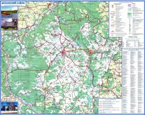 Карта Дятловского района