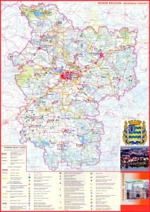 Туристическая карат Минской области (Tourist map Minsk region)