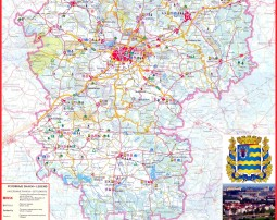 Туристическая карат Минской области (Tourist map Minsk region)