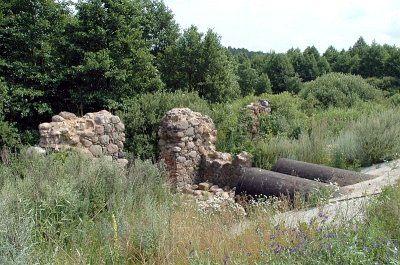 Остатки мельницы в деревне Белогурна