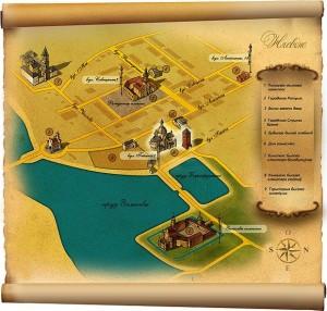 Туристическая карта города Несвижа