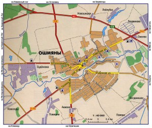Карта города Ошмяны