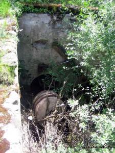 Останки бывшей водяной мельницы в деревне Староельня