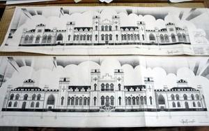 Рэстаўрацыя палаца Пуслоўскіх у Косаве