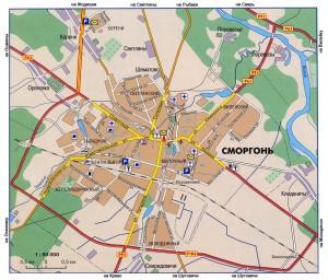 Карта города Сморгонь