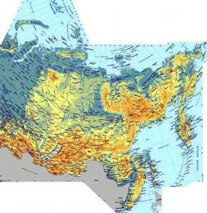 Топографическая карта России и не только