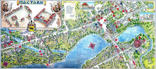 Туристическая карта Поставы
