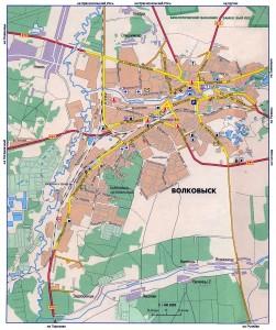 Карта города Волковыск