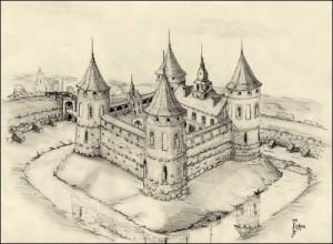 Замок в Гераненах реконструкция
